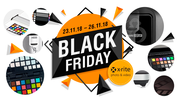 Oferta X-rite na Black Friday 23-26 listopada 2018